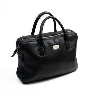 Armani Collezioni Black Leather Briefcase